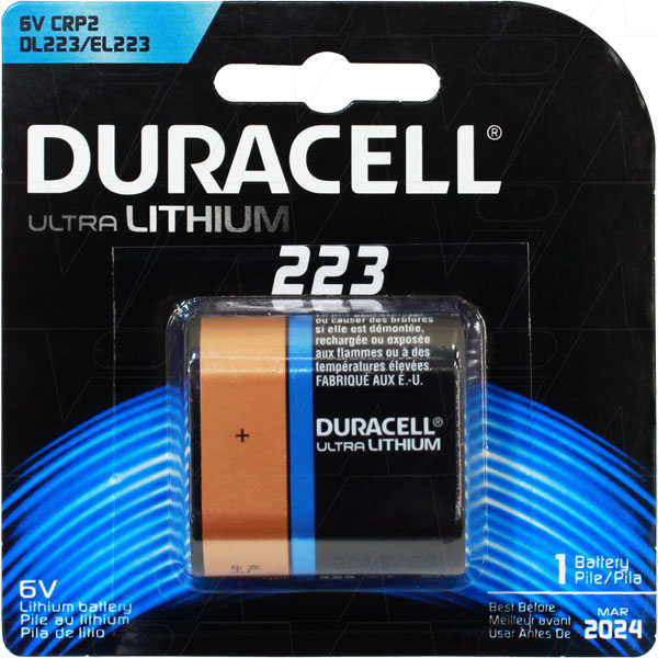 Dl223ab Dl223a Duracell Ultra Lithium Battery Replaces Crp2